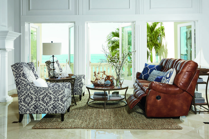 We Are Loving This Reclining Sofa Paired With The Accent Regarding Living Room Sofa And Chair Sets (View 12 of 15)