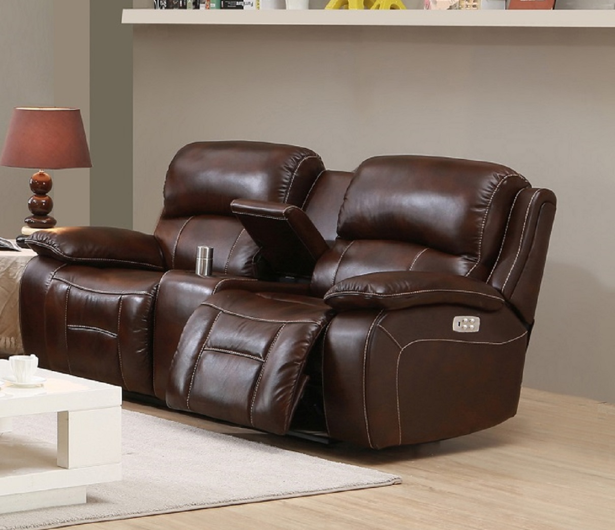 Westminster Top Grain Leather Power Reclining Loveseat With Nolan Leather Power Reclining Sofas (View 4 of 15)
