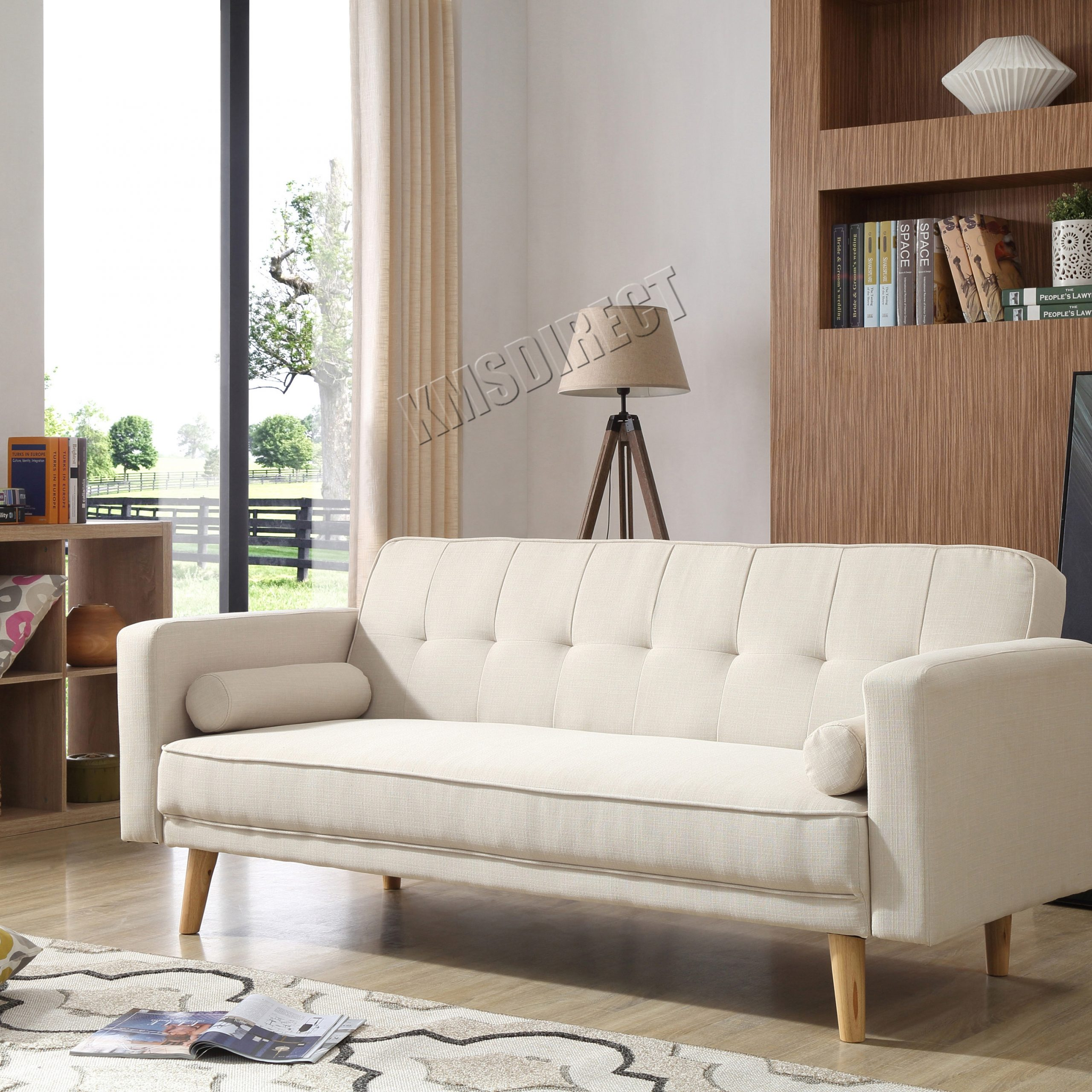 Westwood Fabric Sofa Bed 3 Seater Couch Luxury Modern Home With Regard To Fancy Sofas (View 12 of 15)