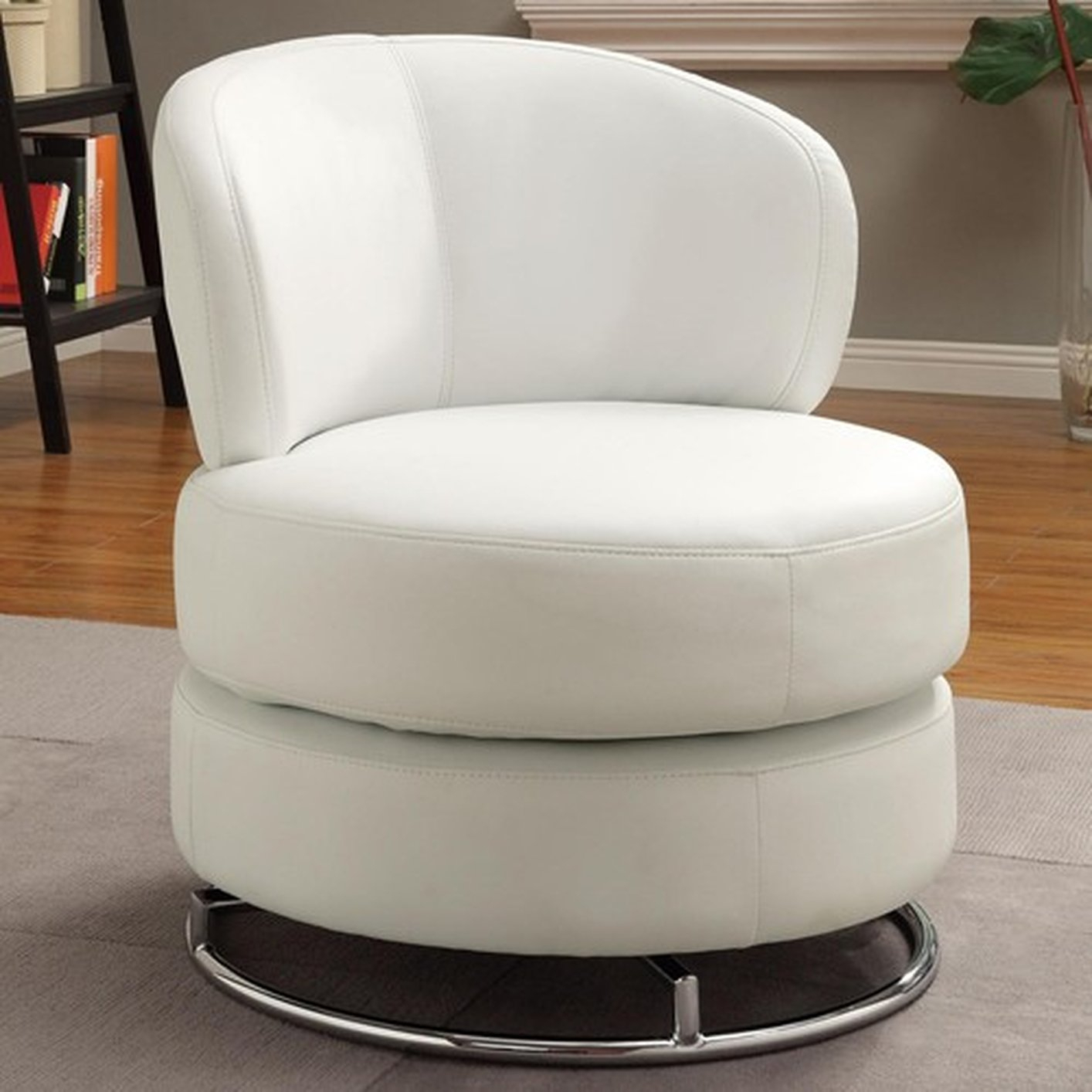 White Fabric Swivel Chair – Steal A Sofa Furniture Outlet Inside Swivel Sofa Chairs (View 1 of 15)