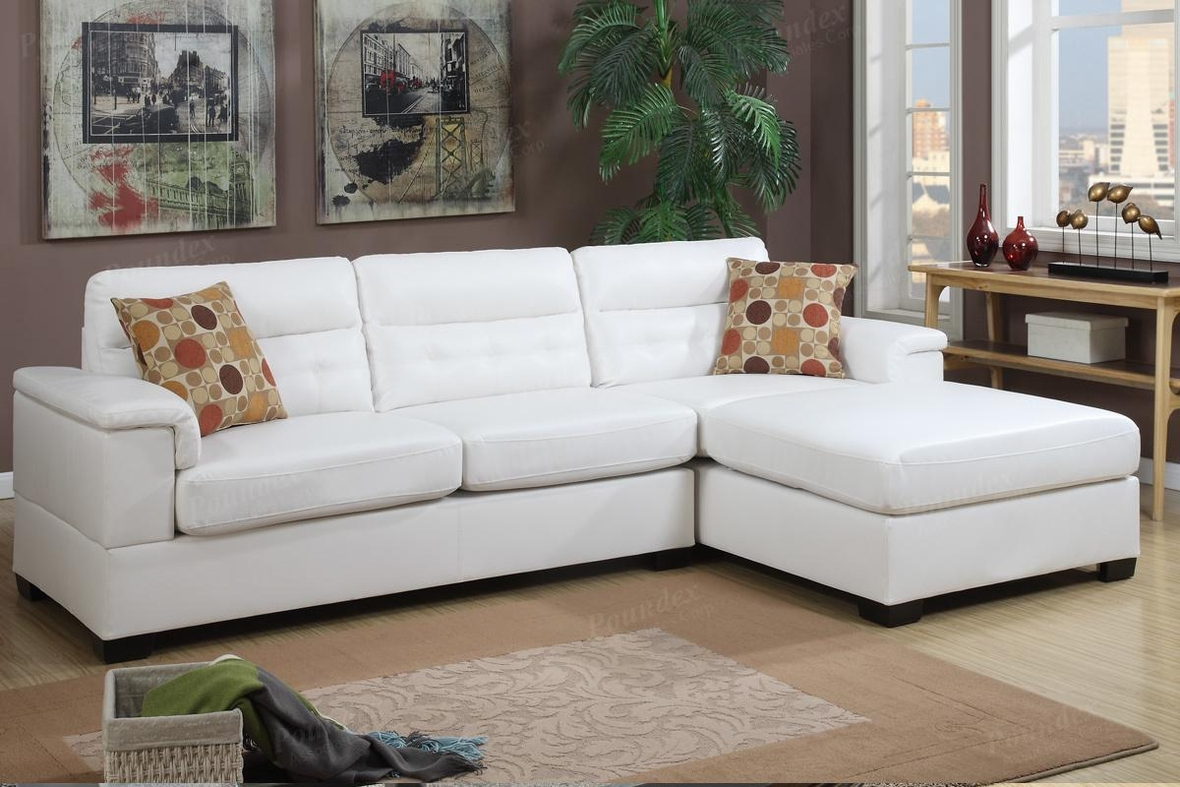 White Leather Sectional Sofa – Steal A Sofa Furniture Inside Sectional Sofas In White (View 2 of 15)