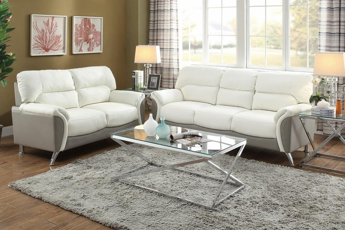 White Leather Sofa And Loveseat Set – Steal A Sofa With Regard To White Sofa Chairs (View 4 of 15)