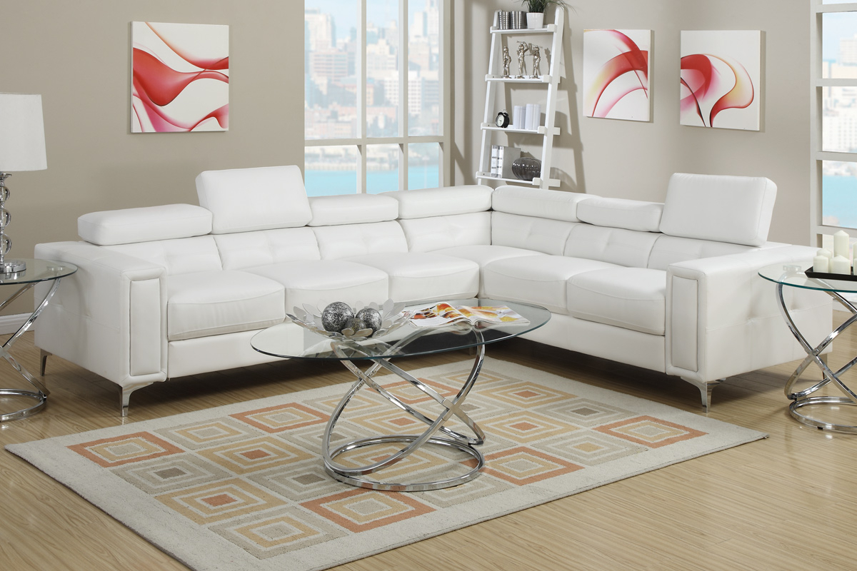 White Metal Sectional Sofa – Steal A Sofa Furniture Outlet Regarding Sectional Sofas In White (View 9 of 15)