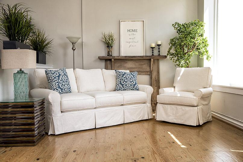 White Sofa And Chair | Bethany Resort Furnishings Beach Within White Sofa Chairs (View 12 of 15)