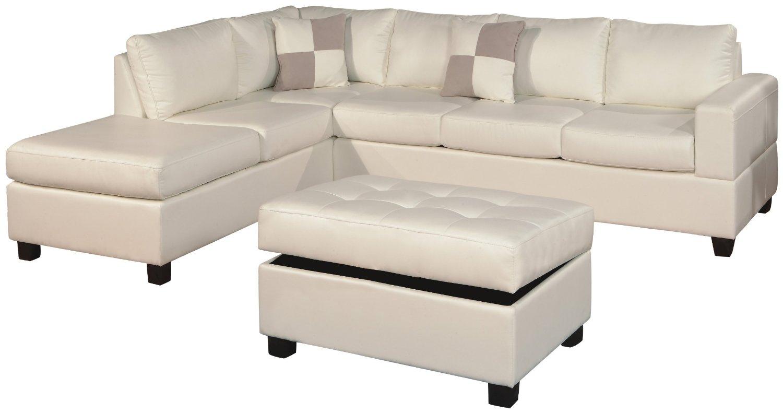 White Sofa: White Microfiber Sofa With Regard To White Sofa Chairs (View 7 of 15)