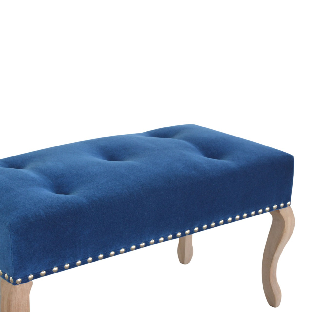 Wholesale French Style Royal Blue Velvet Bench, Dropship Pertaining To Artisan Blue Sofas (View 12 of 15)