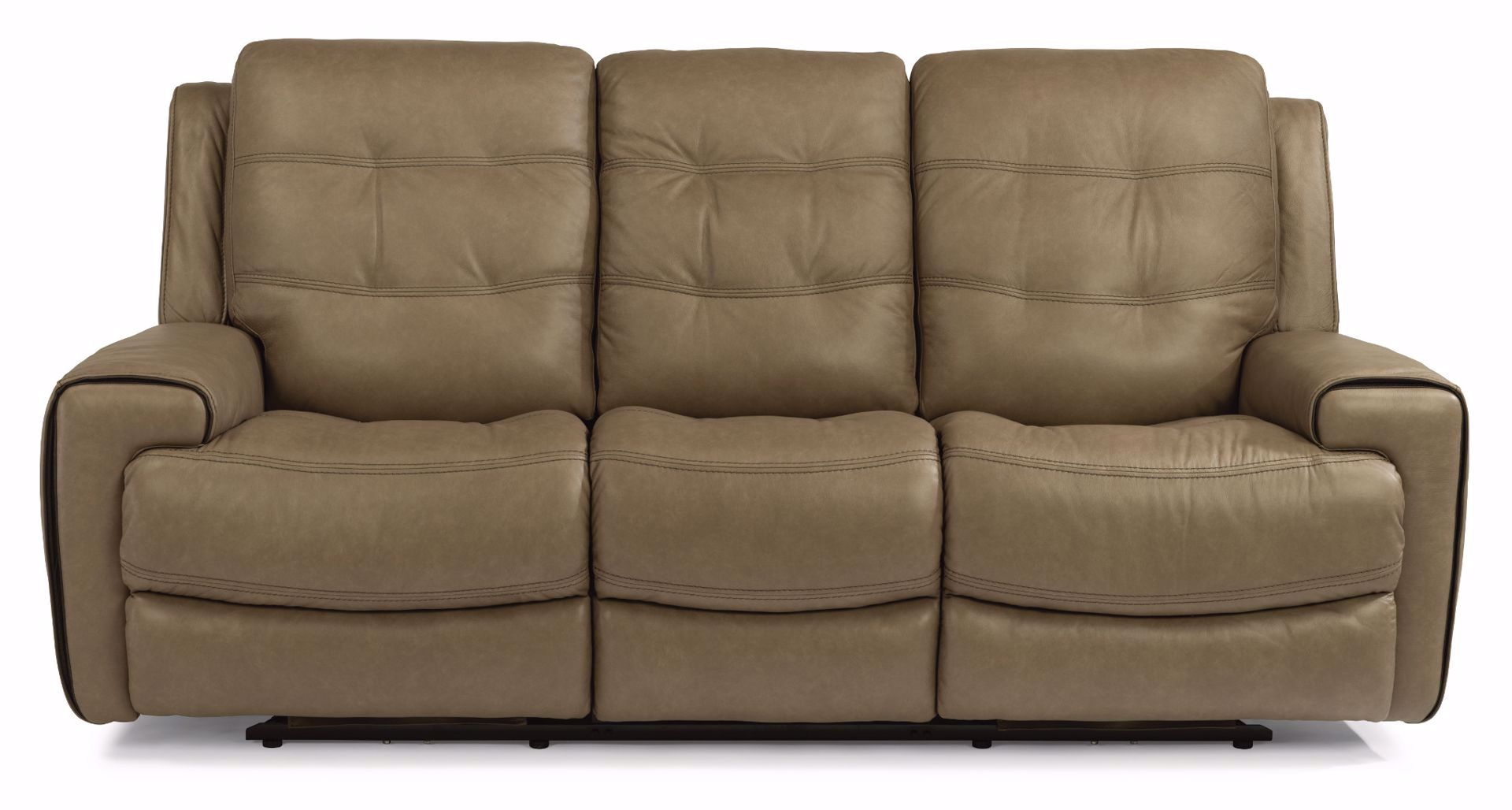 Wicklow Power Reclining Leather Sofa With Power Headrest In Charleston Power Reclining Sofas (View 14 of 15)