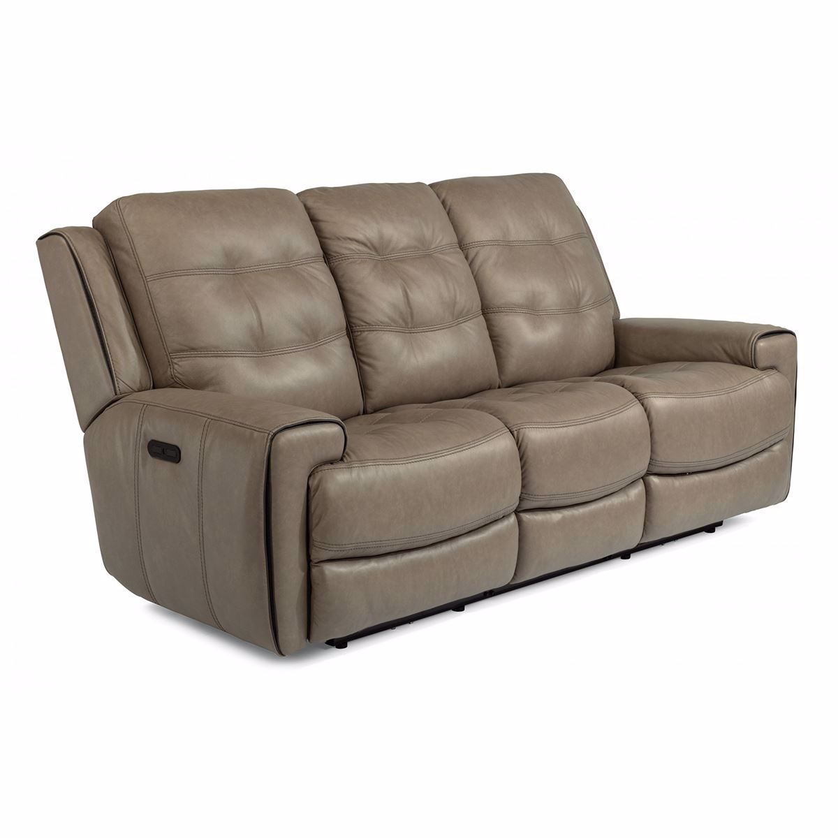 Wicklow Power Reclining Leather Sofa With Power Headrest Pertaining To Charleston Power Reclining Sofas (View 3 of 15)