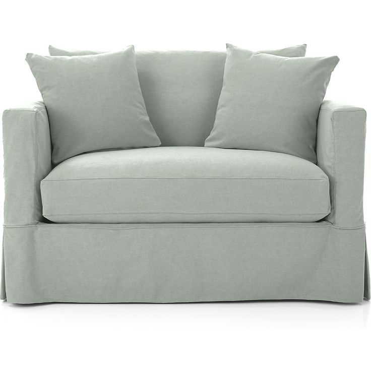 Willow White Twin Sleeper Sofa + Reviews | Crate And With Regard To Twin Sofa Chairs (View 10 of 15)