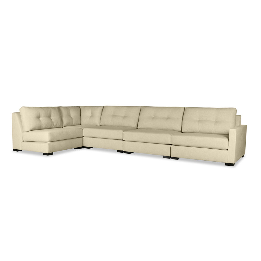 Wilton Buttoned Modular Left L Shape Sectional For Wilton Fabric Sectional Sofas (View 5 of 15)