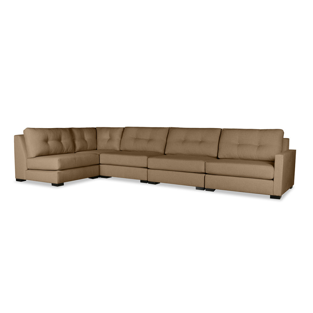 Wilton Buttoned Modular Left L Shape Sectional In Wilton Fabric Sectional Sofas (View 2 of 15)