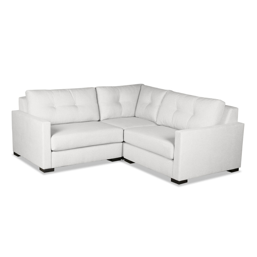Wilton Buttoned Modular Sectional Right And Left Arms L Regarding Wilton Fabric Sectional Sofas (View 8 of 15)