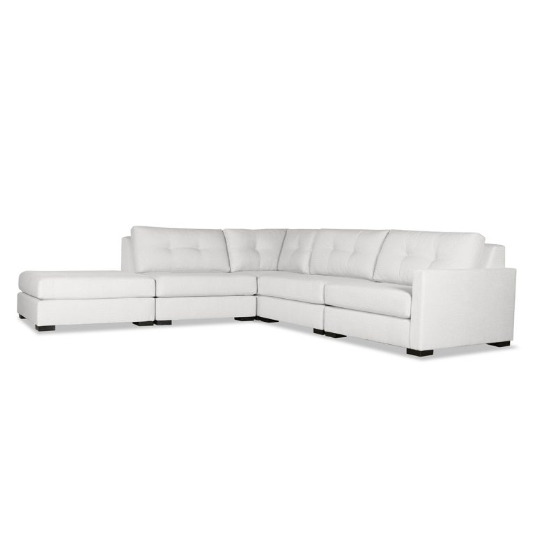 Wilton Buttoned Modular Sectional Right Arm L Shape Left With Wilton Fabric Sectional Sofas (View 4 of 15)