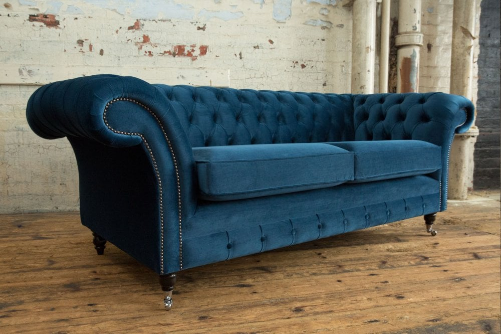 Woodstock Chesterfield Sofa – House Ocean Navy Velvet Pertaining To Chesterfield Sofas And Chairs (View 14 of 15)