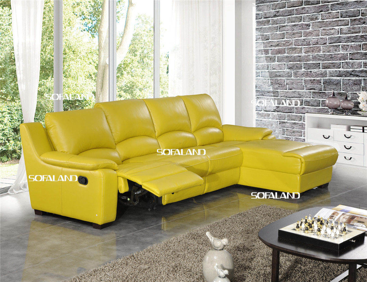 Yellow Leather Sofa Set China Er Yellow Color L Shape Within Yellow Sofa Chairs (View 6 of 15)