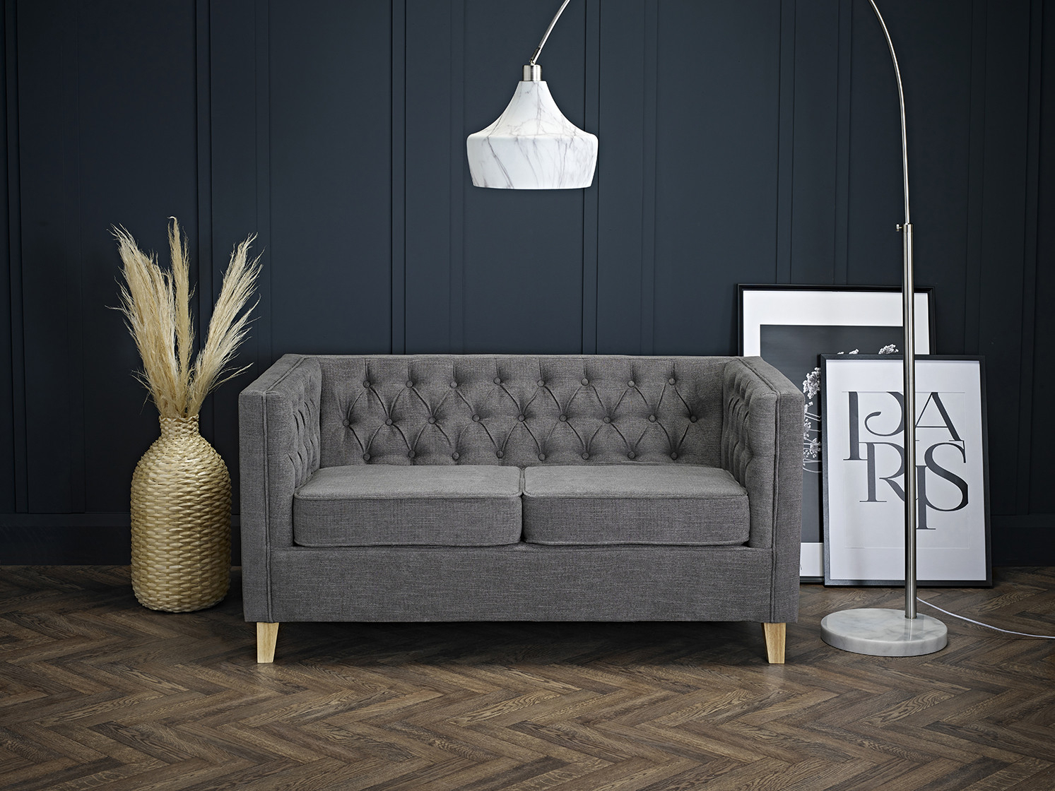 York 2 Seater Sofa Grey – Sofas – Living Room Seating Pertaining To Two Seater Sofas (View 14 of 15)