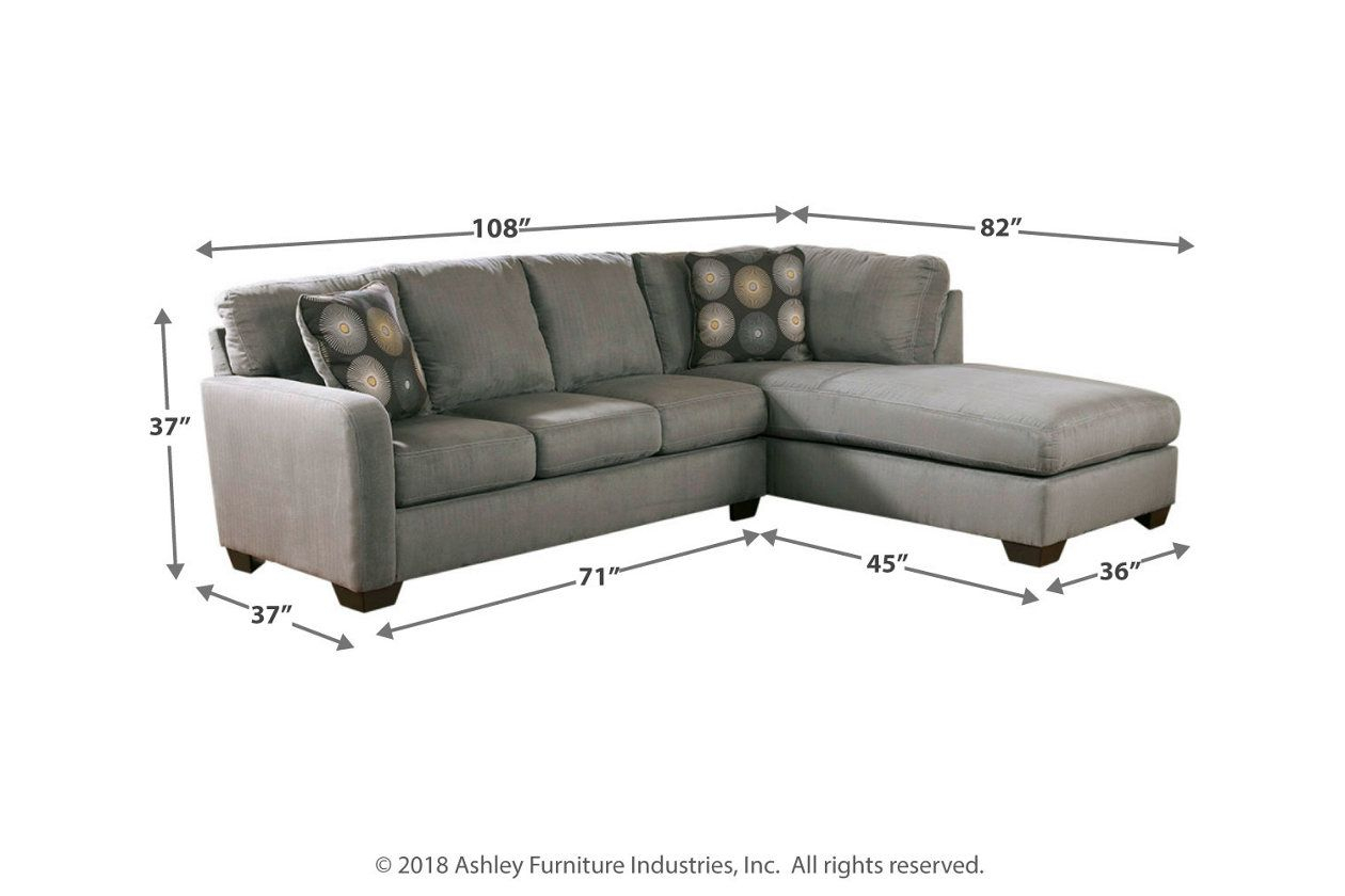 Zella 2 Piece Sectional With Chaise | Ashley Furniture With 2Pc Crowningshield Contemporary Chaise Sofas Light Gray (View 15 of 15)