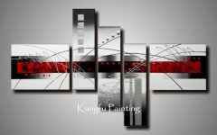 Black and White Wall Art With Red
