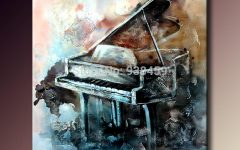 Abstract Piano Wall Art