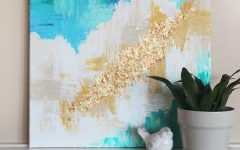 Diy Abstract Canvas Wall Art