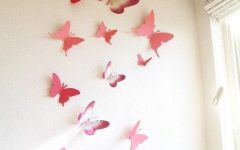 Pink Butterfly Wall Art