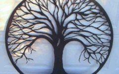 Metal Oak Tree Wall Art