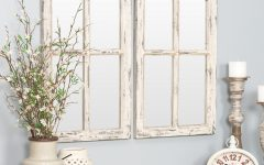2 Piece Kissena Window Pane Accent Mirror Sets