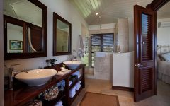 2014 Contemporary Bathroom With Wooden Cabinet Furniture