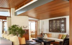 2015 Trendy Wood Ceiling for Living Room