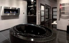 Black-Colored Bathroom Interior Design Ideas