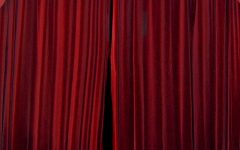 Dark Red Velvet Curtains