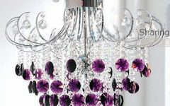 Purple Crystal Chandeliers