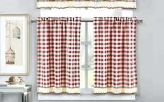 Lodge Plaid 3-Piece Kitchen Curtain Tier and Valance Sets