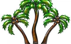 Palm Tree Metal Wall Art