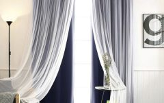 Mix and Match Blackout Tulle Lace Sheer Curtain Panel Sets
