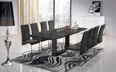8 Seater Black Dining Tables