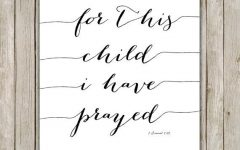 For This Child I Prayed Wall Art