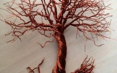 Copper Oak Tree Wall Art