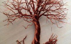 Copper Oak Tree Wall Art
