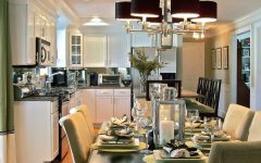 Admirable Dining Room and Kitchen Interior Combination