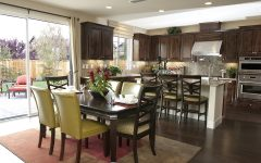Antique Dining Room and Kitchen Interior Design Combo