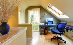 Attic Interior Remodel to Modern Workplace