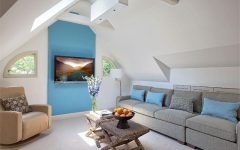 Attic Makeover to Minimalist Modern Living Area