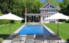 Backyard Space With Traditional Pool and Outdoor Seating