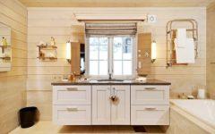 Bathroom Wooden House Interior
