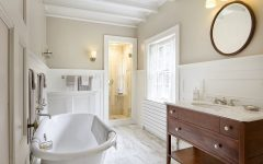 Beautiful Contemporary Bathroom with Rustic Nuance