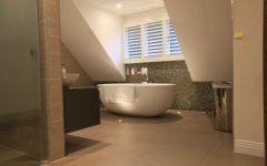 Beauty Contemporary Bathroom Design with Oval Bathtub