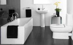 Black White Bathroom Simple Design Ideas