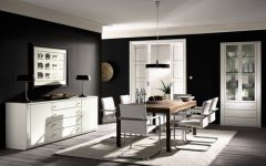 Black White Modern Dining Room Furniture Ideas