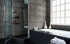 Black White Shower Room Ideas 2014